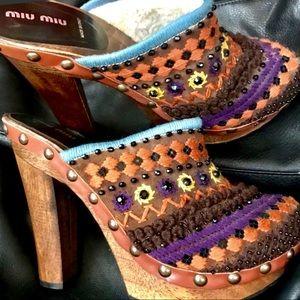 MIU MIU Tropic summer Sandals shoes NEW size 10